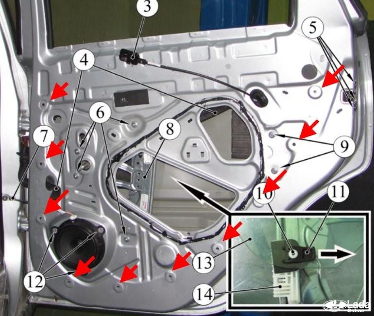 Как снять обшивку дверей и потолка Lada XRAY