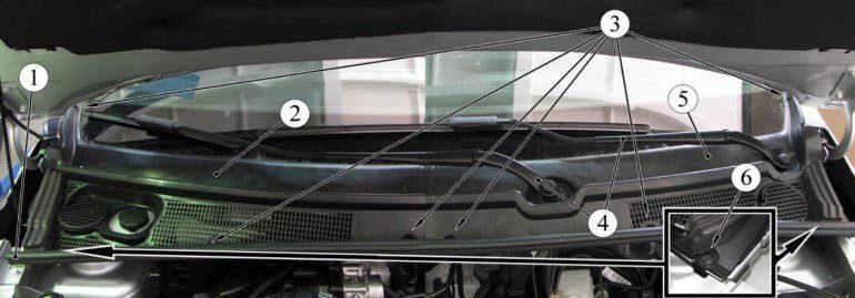 Как снять ветровую накладку на Lada XRAY
