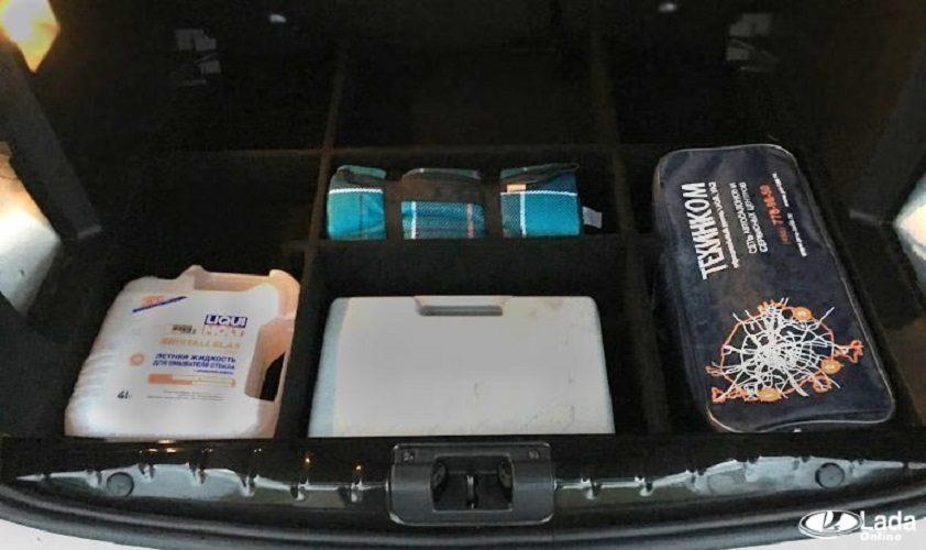 Органайзер в багажник Lada XRAY или как доработать фальшпол?
