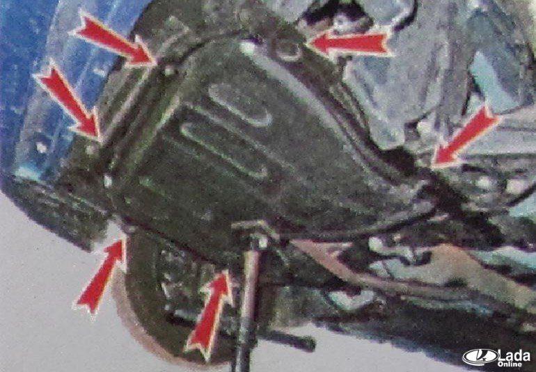 Защита картера Lada Х рей
