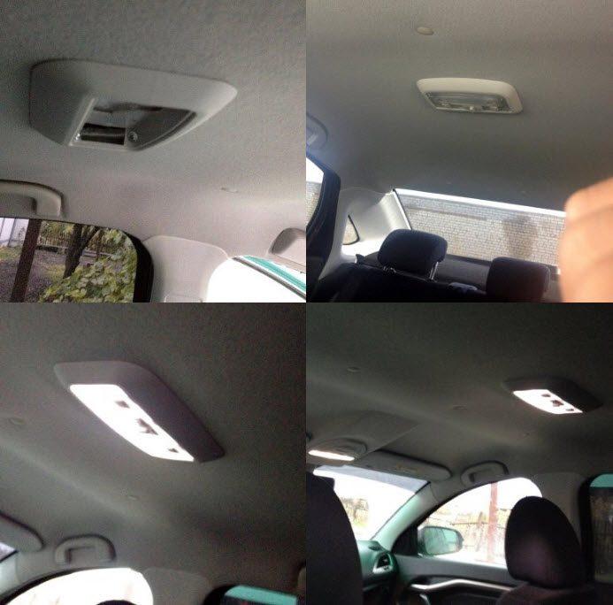 Установка дополнительного плафона освещения в салоне Лада Веста и XRAY