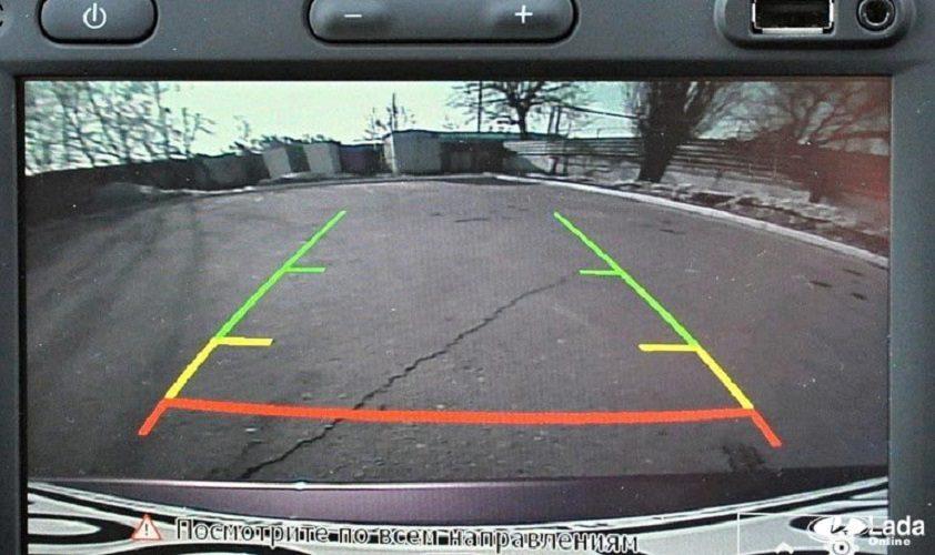Активация камеры заднего вида на Lada XRAY