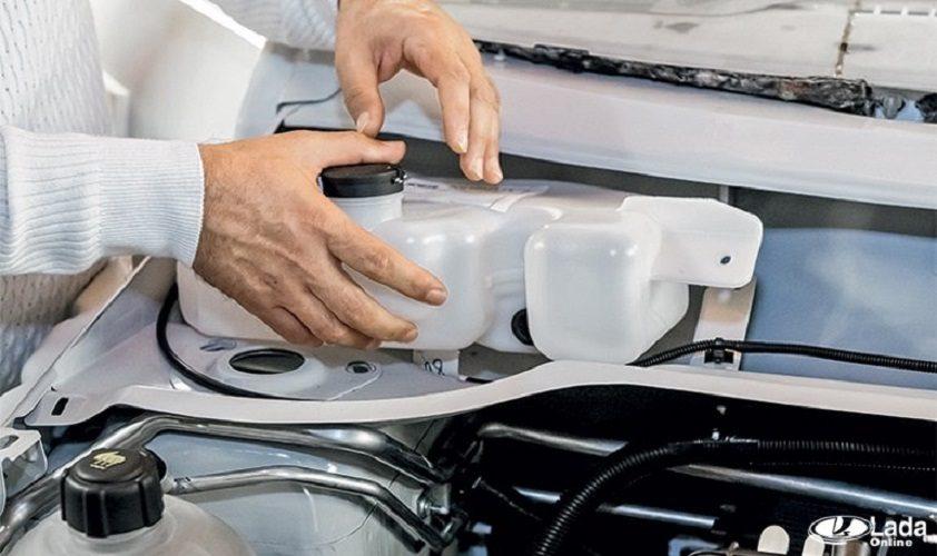 Шумоизоляция бачка стеклоомывателя автомобилей LADA