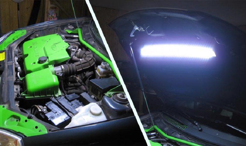 Как сделать подсветку моторного отсека на автомобилях LADA